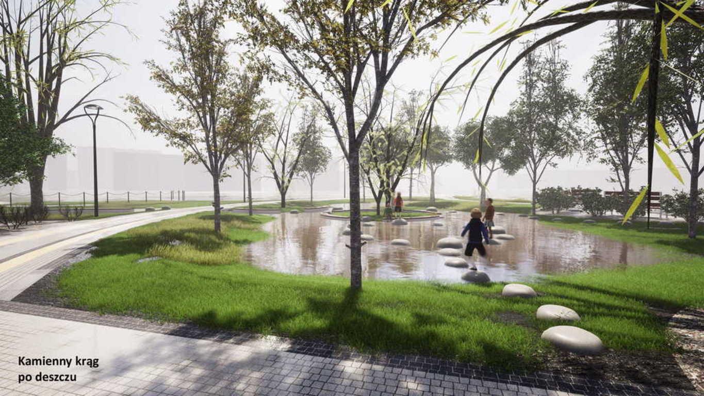 W Parku Rataje powstanie wodny plac zabaw